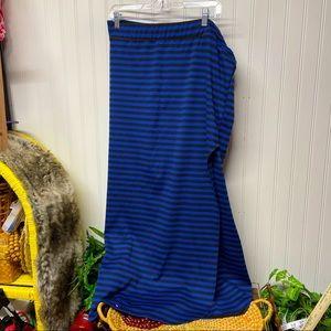 Nana Black & Blue Bodycon Maxi Skirt 3XL